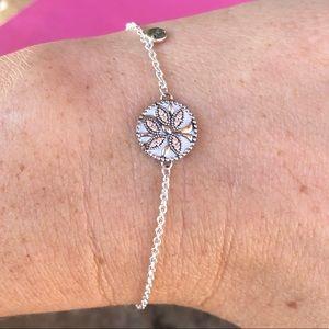 Pandora Sparkling Family Tree Sliding Bracelet